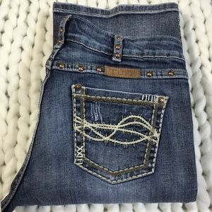 Cowgirl Tuff Co. copper road studded bootcut bling